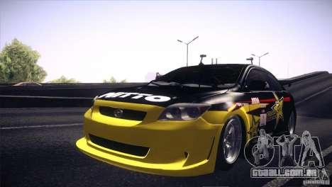 Scion TC Rockstar Team Drift para GTA San Andreas vista traseira