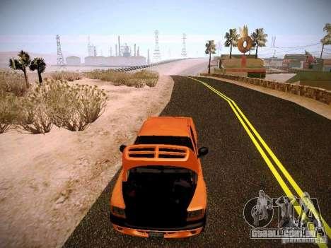 Dodge Ram 1500 Dacota para GTA San Andreas vista superior