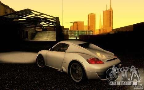 Ruf RK Coupe V1.0 2006 para GTA San Andreas esquerda vista