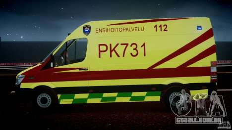 Mercedes-Benz Sprinter PK731 Ambulance [ELS] para GTA 4 interior