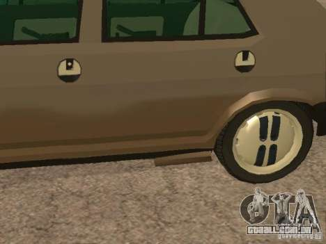 Fiat Ritmo para GTA San Andreas vista inferior