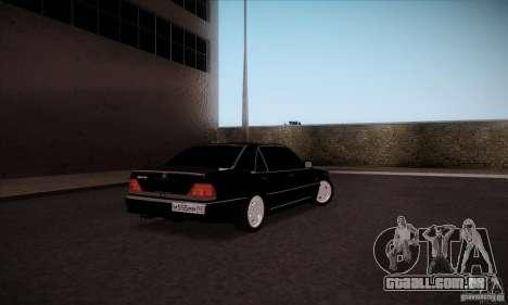 Mercedes-Benz 600SEL AMG 1993 para GTA San Andreas traseira esquerda vista