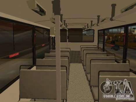 Mercedes-Benz LO-708E para GTA San Andreas vista interior