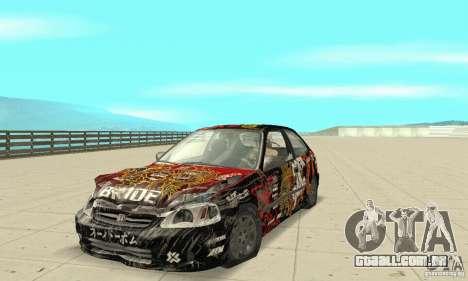 Honda-Superpromotion para vista lateral GTA San Andreas
