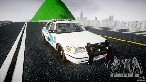 Ford Crown Victoria v2 NYPD [ELS] para GTA 4 vista de volta