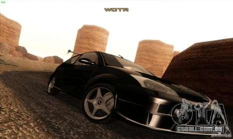 Ford Focus SVT TUNEABLE para GTA San Andreas vista superior