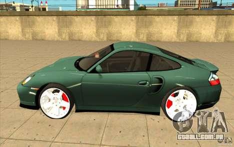 Porsche 911 Turbo para GTA San Andreas esquerda vista
