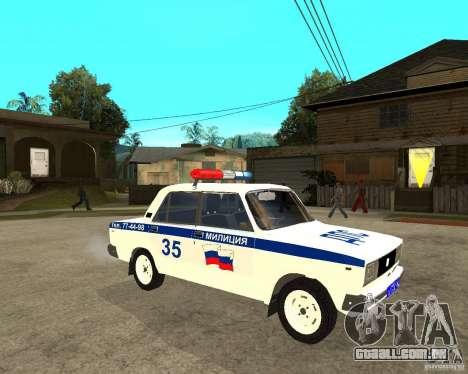 DPS de 2105 Vaz para GTA San Andreas
