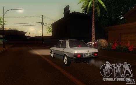 BMW E28 525e ShadowLine Stock para GTA San Andreas vista direita