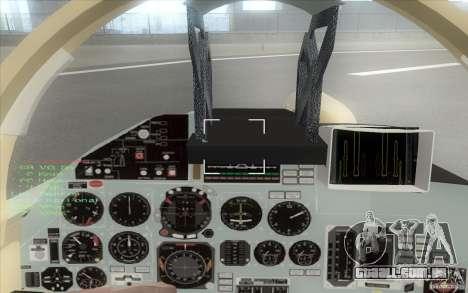 O Su-37 Terminator para GTA San Andreas vista traseira