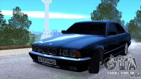 BMW E34 V1.0 para GTA San Andreas vista inferior
