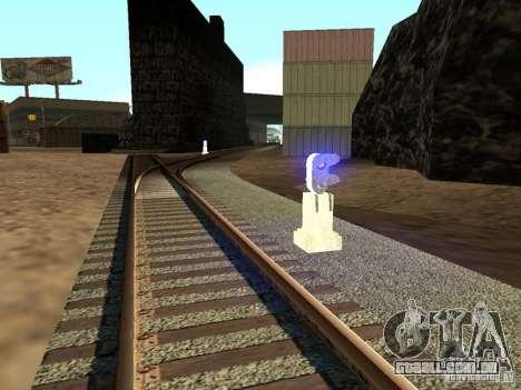 Luzes de tráfego ferroviário 2 para GTA San Andreas segunda tela