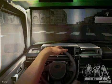 Táxi de curto-kryloe 2109 Vaz para GTA San Andreas vista traseira