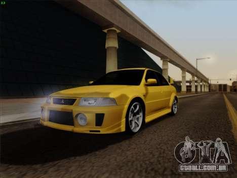 Mitsubishi Lancer Evolution VI para GTA San Andreas vista direita