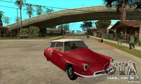 Citroen ID 19 para GTA San Andreas vista traseira