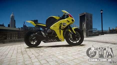 Honda CBR1000RR para GTA 4 vista de volta