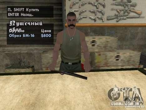 Armas de Pak domésticos para GTA San Andreas sétima tela