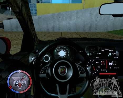 Fiat 500 Abarth para GTA San Andreas vista traseira