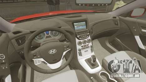 Hyundai Genesis Coupe 2013 para GTA 4 vista de volta