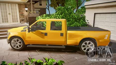 Ford F350 Stock para GTA 4 esquerda vista