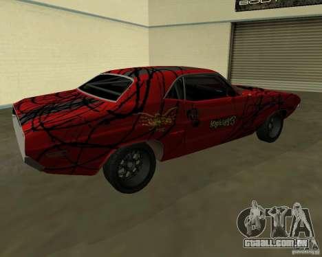 Dodge Challenger 1971 TeamGo para GTA San Andreas traseira esquerda vista