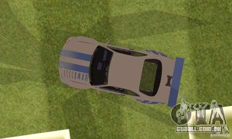 Nissan Skyline R-34 2Fast2Furious para GTA San Andreas vista traseira