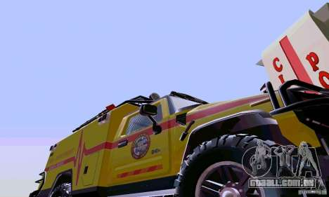 Hummer H2 Ambluance de transformadores para GTA San Andreas esquerda vista