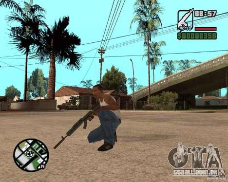 AK-47 from GTA 5 v.1 para GTA San Andreas terceira tela
