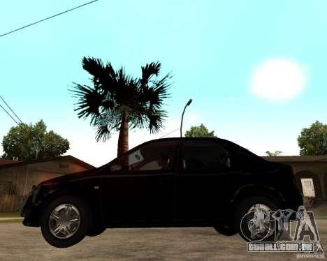 Dacia Logan 2008 para GTA San Andreas esquerda vista
