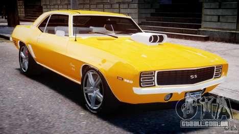 Chevrolet Camaro para GTA 4 vista superior