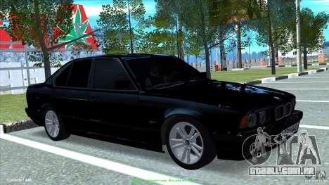 BMW E34 V1.0 para GTA San Andreas traseira esquerda vista
