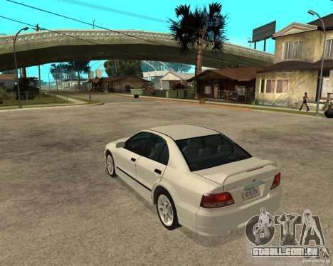 Mitsubishi Galant VR6 para GTA San Andreas esquerda vista