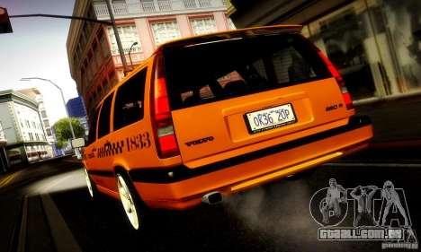 Volvo 850 R Taxi para GTA San Andreas traseira esquerda vista