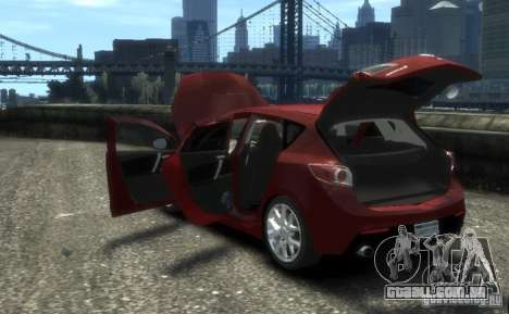 Mazda Speed 3 2010 para GTA 4 vista de volta