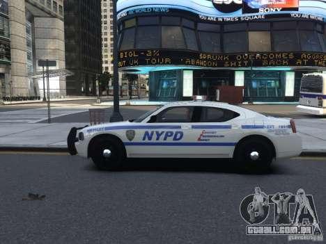 Dodge Charger NYPD para GTA 4 vista de volta