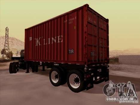 Container para GTA San Andreas traseira esquerda vista