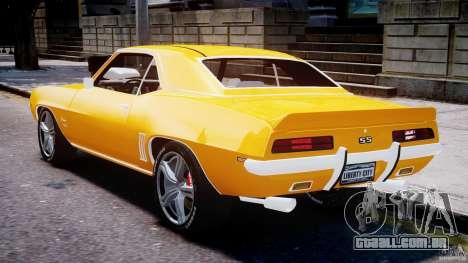 Chevrolet Camaro para GTA 4 vista direita