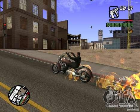 Ghost Rider para GTA San Andreas por diante tela