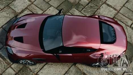 Aston Martin V12 Zagato 2011 v1.0 para GTA 4 vista direita