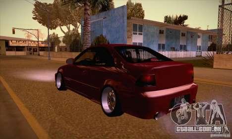 Honda Civic Tuning 2012 para GTA San Andreas traseira esquerda vista