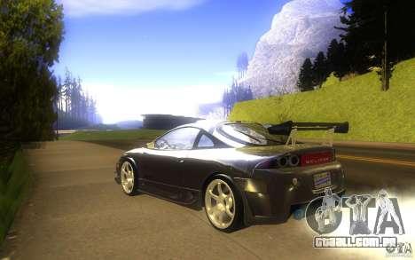 Mitsubishi Eclipse DriftStyle para GTA San Andreas traseira esquerda vista