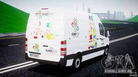 Mercedes-Benz Sprinter Euro 2012 para GTA 4 traseira esquerda vista