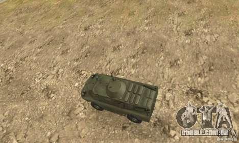 BRDM-2 Standard Edition para GTA San Andreas vista traseira