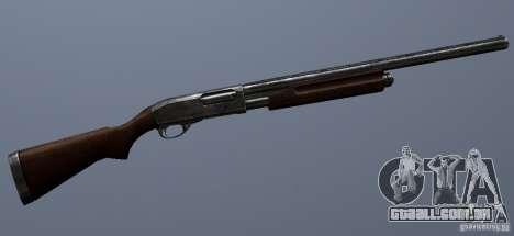 Remington 870AE Silver para GTA San Andreas por diante tela