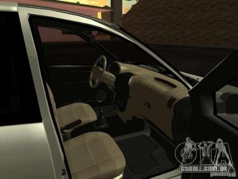 Lada 2190 Granta para GTA San Andreas vista interior