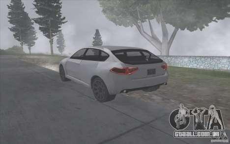 Subaru Impreza-estilo SA para GTA San Andreas vista direita