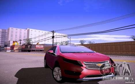 Chevrolet Volt para GTA San Andreas traseira esquerda vista