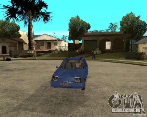 ZAZ 1103 Slavuta para GTA San Andreas vista traseira