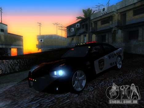Dodge Charger SRT8 Police para GTA San Andreas traseira esquerda vista