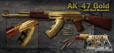 [Point Blank] AK47 Gold para GTA San Andreas